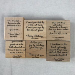Stampin'up Friend to Friend Set of 6 Stamps